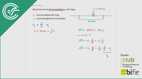 A_149 Zugfahrt c [Weg-Zeit Physik Beispiel]